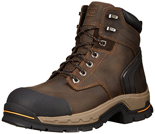 Timberland PRO Men's 6 Inch Stockdale Grip Max Alloy Leather Work and Hunt Boot, Dark Brown Full Grain Leather, 14 W US