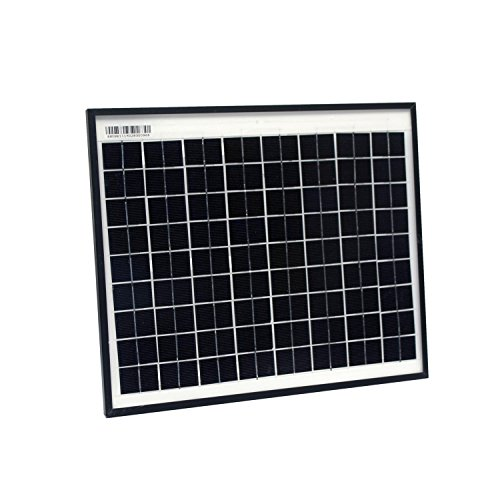 ALEKO SPU10W24V 10 Watt 24 Volt Monocrystalline Solar Panel for Gate Opener Pool Garden ()