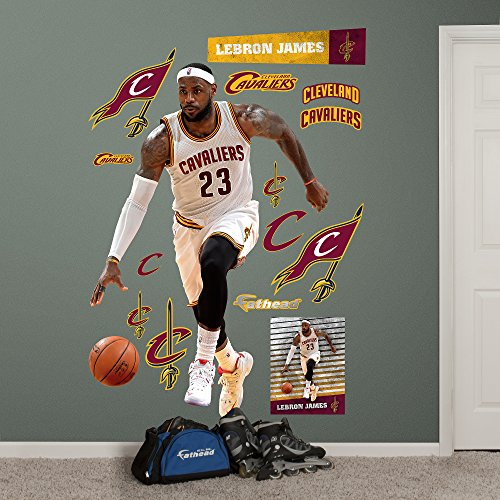 NBA Cleveland Cavaliers LeBron James Forward Fathead Real Big Decals, 50