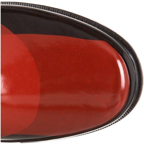 1.4.3. Fille Femmes Raisin Pluie Botte Rouge / Noir Plaid