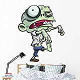 Wallmonkeys Cartoon Illustration Cute Green Wall Decal Peel and Stick Graphic (60 in H x 47 in W) WM205452