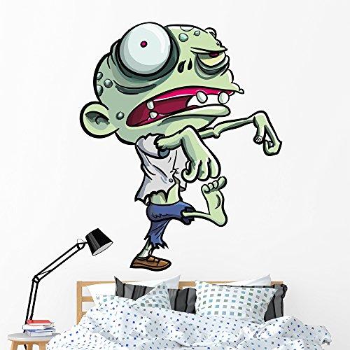 Wallmonkeys Cartoon Illustration Cute Green Wall Decal Peel and Stick Graphic (60 in H x 47 in W) WM205452 by Wallmonkeys