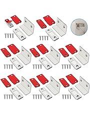 Tongboke Sterke magneten voor laden, 8 stuks L-vormige deurmagneten zelfklevende magneetsluiting met schroeven, magnetische snapper magneet voor balkondeur, kasten, slaapkamers