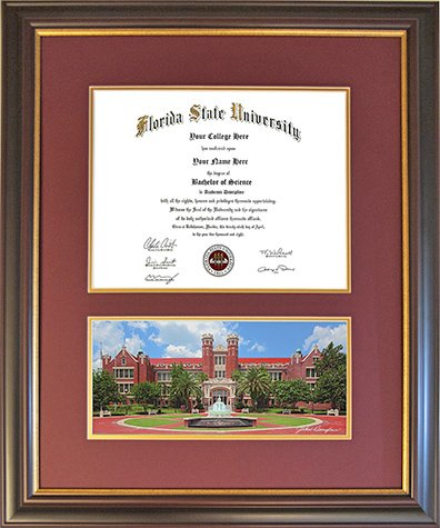 Diploma Frame for Florida State University - Westcott (Florida State Seminoles Photograph)