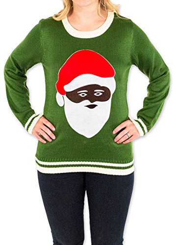 Women's Black Santa Ugly Christmas Sweater