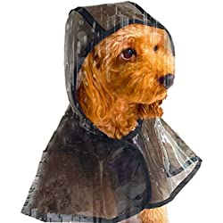 Starsource Waterproof Hoodie Puppy Raincoat Transparent Clear Pet Rainwear Coat Jacket Clothes for Small Dogs/Cats