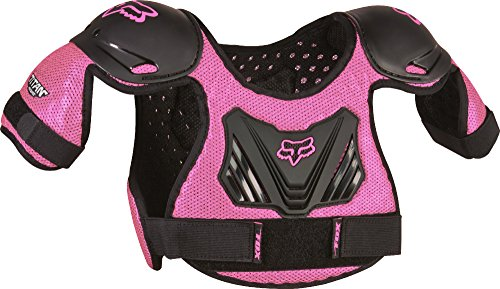 Fox Racing PeeWee Titan Youth Roost Deflector Motocross Motorcycle Body Armor - Black/Pink/Medium/Large