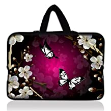 """Butterfly 16 inch 17"""" 17.3"""" 17.4"""" Soft Neoprene Laptop Sleeve Bag Case Notebook Cover For 17.3"""" Dell Inspiron Toshiba Satellite,17""""inch Dell Alienware m17x,17"""" Apple Macbook Pro,16/17/17.3/17.4 inch Laptop Notebook,Genuine HP HP700 Portable,Dell Precision M90 17"""" Notebook ,Sony VAIO VGN-A317M 17"""" loptop,Dell Inspiron 17R 5737 17"""",Dell Studio 1737 17"""" laptop,Lenovo ThinkPad W700 17"""" Laptop,17.3"""" HP"""