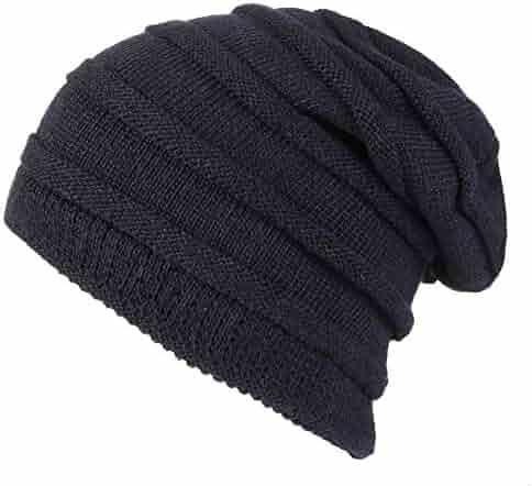 4d4841f7dc4 T1FE 1SFE Mens Womens Slouchy Floppy Oversized Fleece Lined Knit Beanie Hat