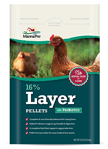 - Manna Pro 16-Percent Layer Pellets with Probiotics, 8 lb