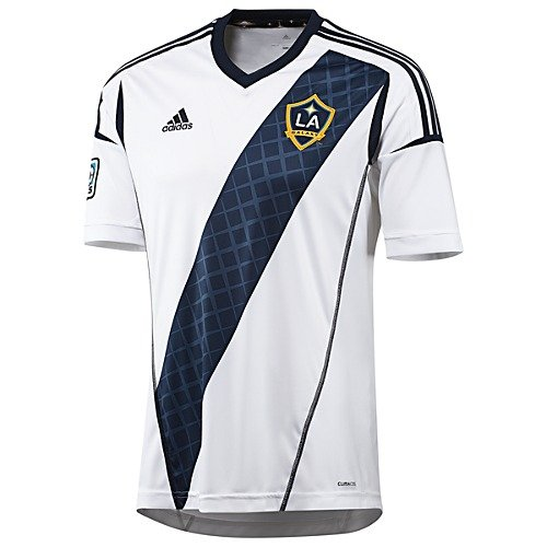 Adidas La Galaxy Home Jersey - MLS Los Angeles Galaxy Replica Home Jersey, Large