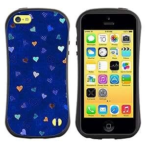 Paccase / Suave TPU GEL Caso Carcasa de Protección Funda para - Blue Stars Pattern Love - Apple Iphone 5C