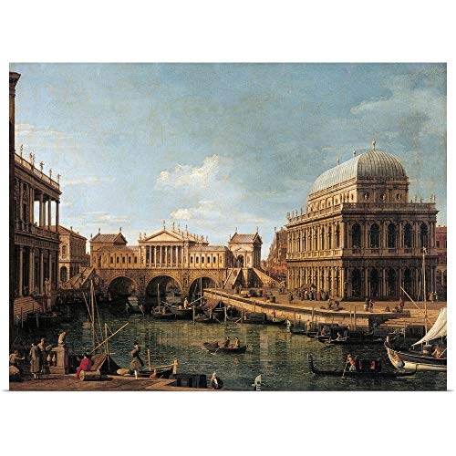 - GREATBIGCANVAS Poster Print Entitled Capriccio with Palladian Buildings, by Canaletto, 1755 by 30
