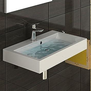 Waschbecken eckig  Design Waschbecken aus Gussmarmor - Handwaschbecken - Waschtisch ...