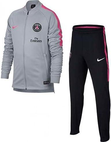 Nike 2018-2019 PSG Knit Tracksuit (Wolf Grey) - Kids