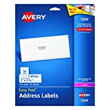 Avery 5260 Easy Peel Mailing Address Labels, Laser, 1 x 2 5/8, White (Pack of 750) фото