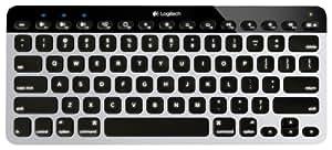 Logitech Bluetooth Easy-Switch K811 Keyboard for Mac, iPad, iPhone - Silver/Black