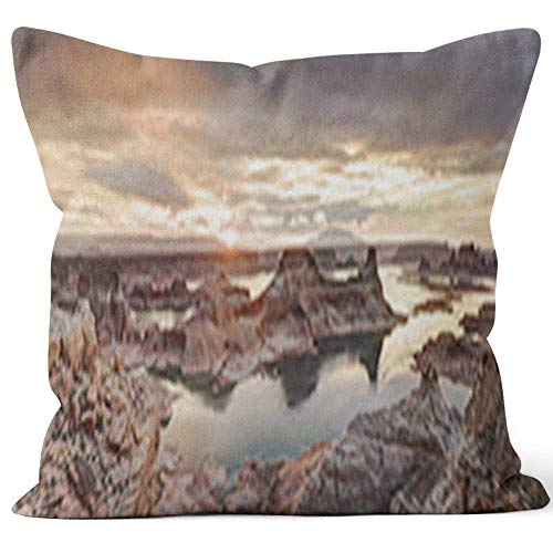 Nine City Lake Powell Throw Pillow Cover,HD Printing for Sofa Couch Car Bedroom Living Room D??cor ()