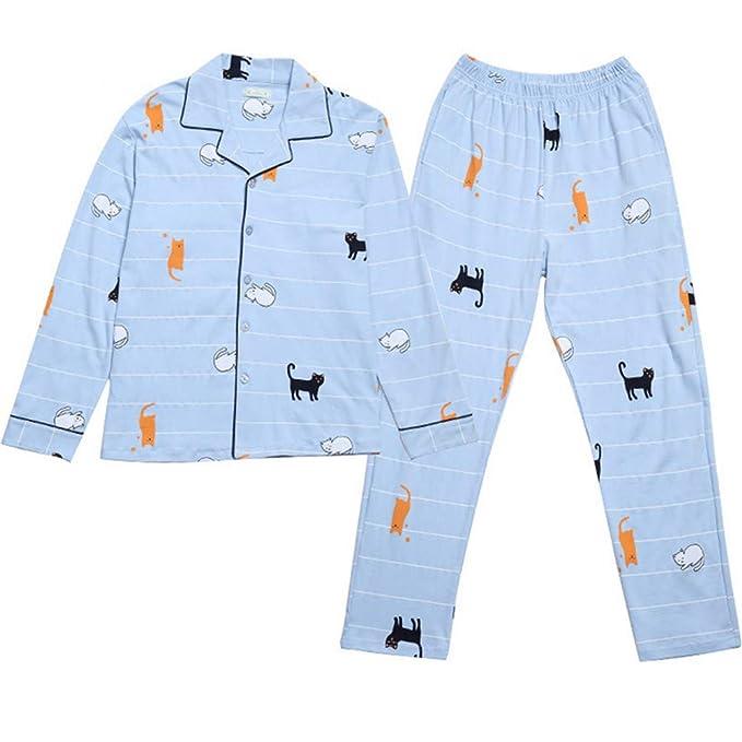 Mmllse Pijamas De Pijamas Establece Gato Vestido Fresco Dormir Imprimir Ropa De Noche De Las Mujeres
