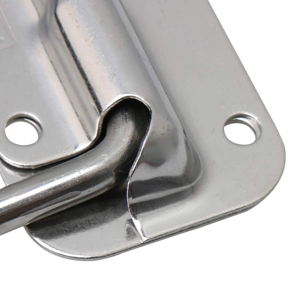 Kofferraum BQLZR Federbelasteter Stahlgriff Stabile Truhe Griffe Hebegriff mit Gummigriff f/ür Werkzeugkasten Schublade T/ür Schrank