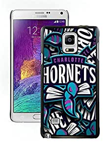 New DIY Designed Skin Case For Samsung Galaxy Note 4 N910A N910T N910P N910V N910R4 With Charlotte Hornets 7 Black Phone Case