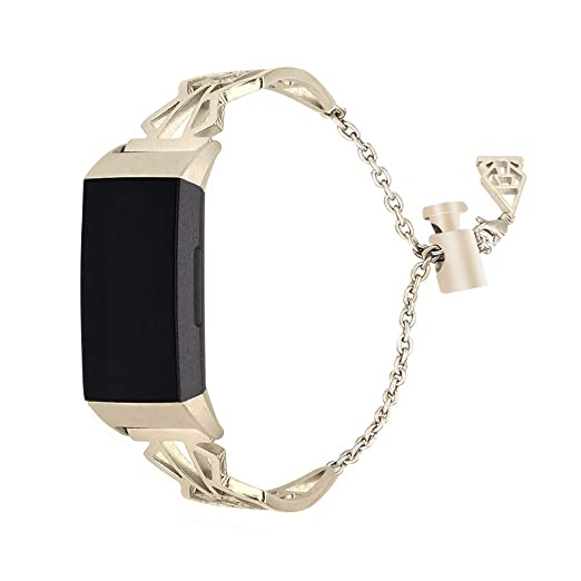 Reloj Inteligente para Mujer de Acero Inoxidable Correa Diamante Pulsera de Metal Repuesto Actividad Strap de Elegante Cadena: Amazon.es: Relojes