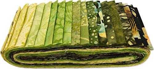 Batik Strips (Bali Batiks Meadow Bali Poppy 20 2.5-inch Strips Jelly Roll Hoffman Fabrics BPP-170-Meadow)