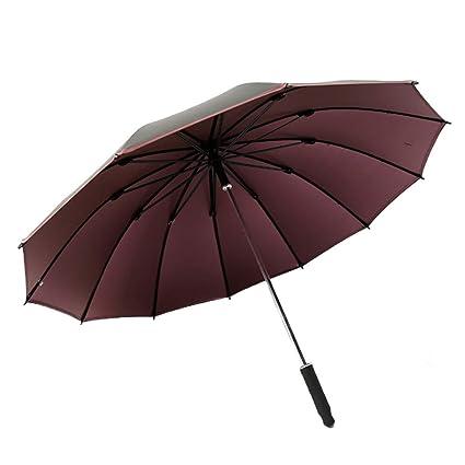 T.Kerry Paraguas De Los Hombres De Negocios Recto Paraguas Gran Cortavientos Paraguas Paraguas Masculino