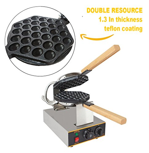 ALD Kitchen Puffle Waffle Maker Professional Rotated Nonstick ALD Kitchen 110V US Plug by ALDKitchen (Image #2)