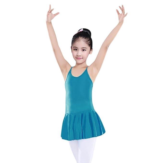 Amazon.com: orangeskycn vestidos de danza para niñas correas ...