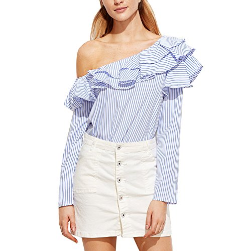 Moresave - Camisas - para mujer StyleB(Blue)