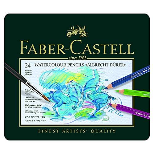 Faber-Castel FC117524 Albrecht Durer Artist Watercolor Pencils In A Tin (24 Pack), Assorted