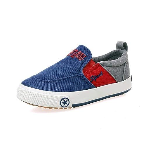 Zapatos Mocasines para niños Zapatos de Banda elástica Zapatillas cómodas para Correr Zapatillas de Lona Zapatos de Ocio: Amazon.es: Zapatos y complementos