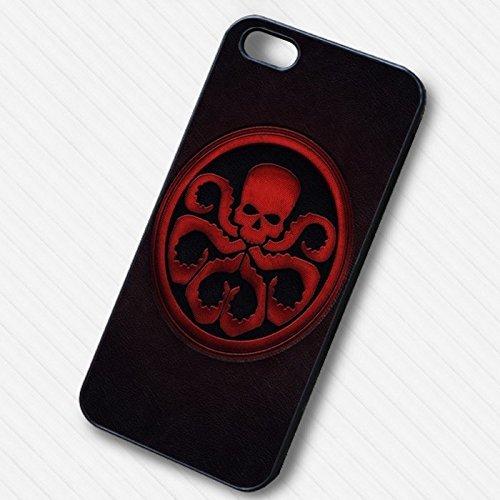 Hydra Evil Enemy on Civil War Coque Iphone 6 et Coque Iphone 6s Case (Noir Boîtier en plastique dur) E2N6HR