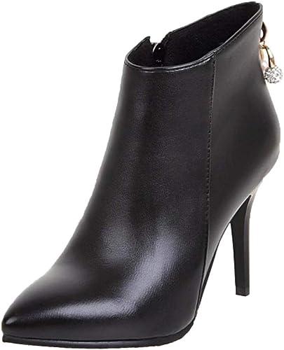 Luis Vuis Women Ankle High Boots Stiletto Heel Zipper Booties