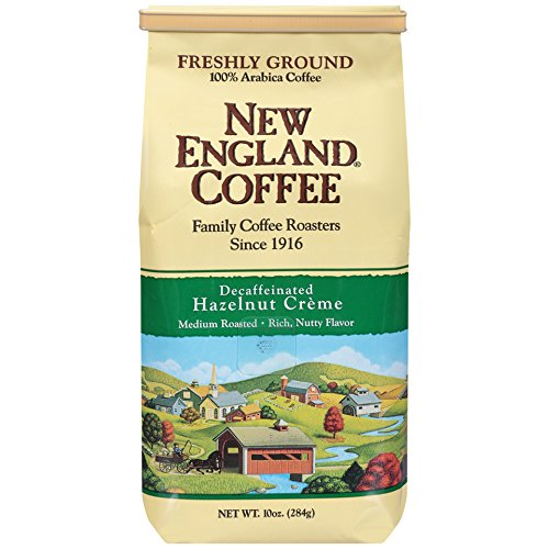 New England Coffee Hazelnut Creme, Decaffeinated, 10 Ounce