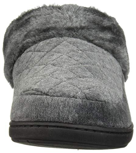 Gray Women's Slipper Clog Heather Dearfoams Velour Dark YR0q1W