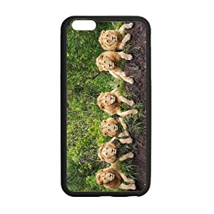 At-Baby Lions Pattern Custom Iphone 6 Plus 5.5 inch Case Cover (Laser Technology)