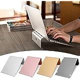 "Caveen Aluminium Laptop Stand Notebook Desktop Mount Stand 11"" - 17"" Tablet Stand Holder Computer Bracket Cooling Base For MacBook Rose Gold"