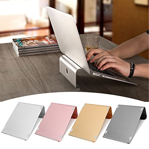 Caveen Aluminum Laptop Tablet Stand Holder Notebook Bracket Cooling Base Fits 11 inch to 17 inch Laptop MacBook - Macbook Case 17 Aluminum