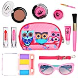WloveTravel Pretend Play Make up Set for Children, Kids Washable Makeup Set for Girls, Educational Learning Toys for Home Great Gifts for Age 6 7 8 9 10+ Years Old Gilrs