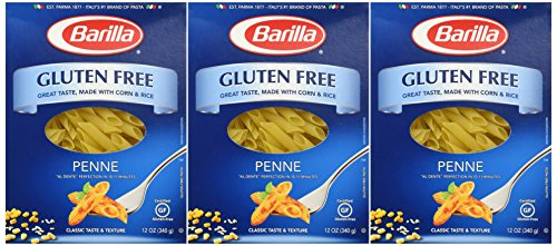 Barilla Gluten Free Penne Pasta, 12 Ounce Boxes (Pack of 3)