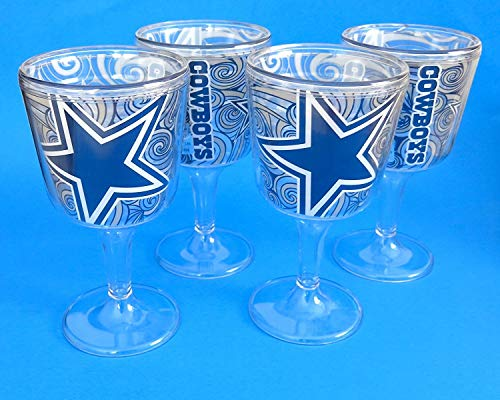 cowboy wine glasses - 8
