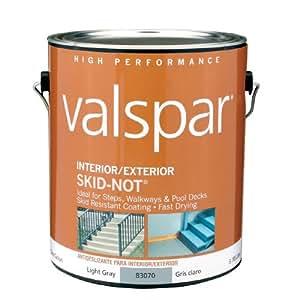 Valspar 1 Gallon Latex Skid Resistant Floor Paint Light Gray Automotive