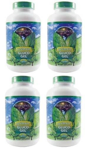 International Shipping  4 Bottles Ultimate Gluco Gel 240 Capsules Each Youngevity Glucosamine Sulfate 500Mg Joint Support