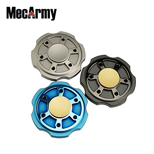 Mecarmy GP3 round version Titanium Fidget Spinner, relax Game, Hand Excise, Relieves Stress and Anxiety (sandblasted) by MeCarmy (Image #2)