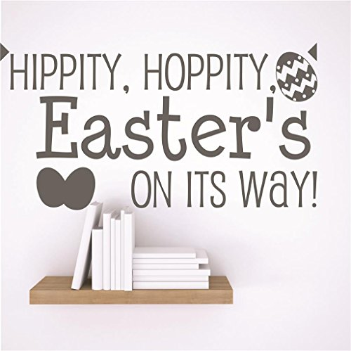 (Design with Vinyl RAD 20 1 Decor Wall Decal Sticker :, Easter's On Its Way! Holiday Decor Quote, 10 x 10