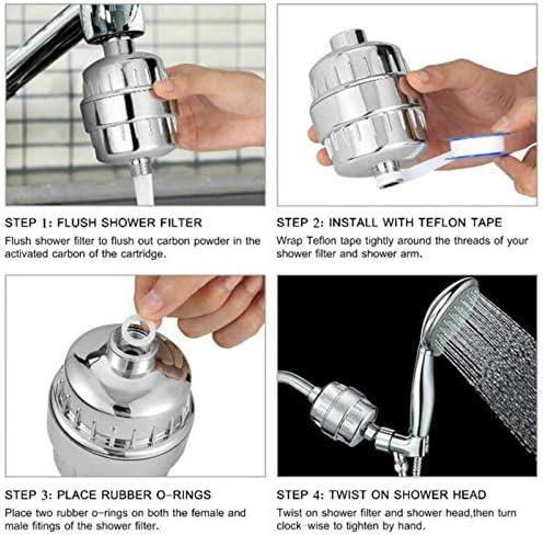 Toolstar Filtre de douche universel rempla/çable pour /éliminer le chlore et prot/éger votre peau et vos cheveux