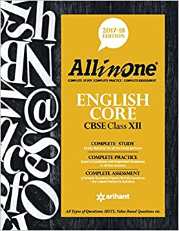 CBSE All in One ENGLISH CORE Class 12th: Amazon in: Arihant