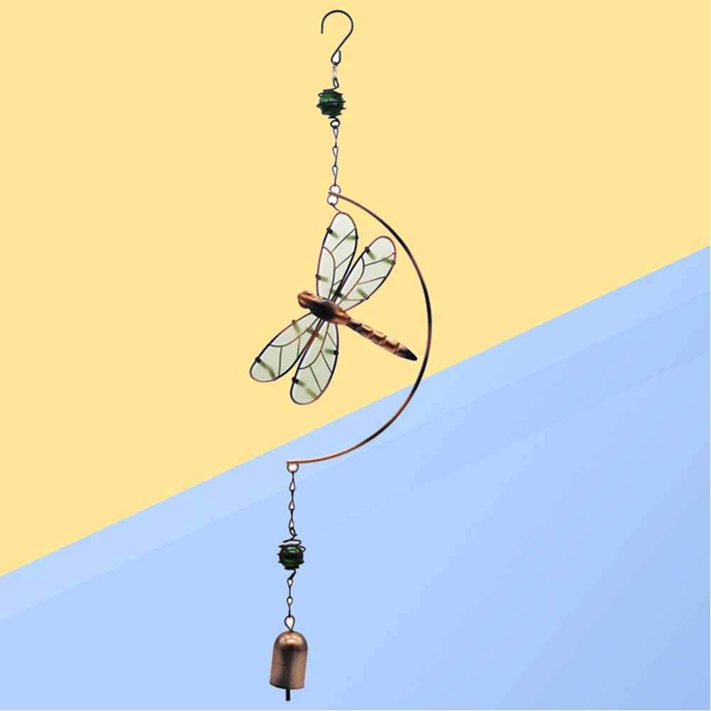 Libelle Windspiel Vosarea Leuchtende Schmiedeeisen Windspiele Nette H/ängende Wind Glocke Outdoor Indoor Libelle Geformte Ornamente Home Auto Dekoration Geburtstagsgeschenk
